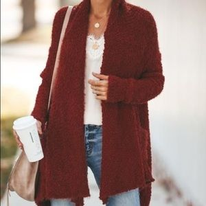 Vici Rust Knit Cardigan